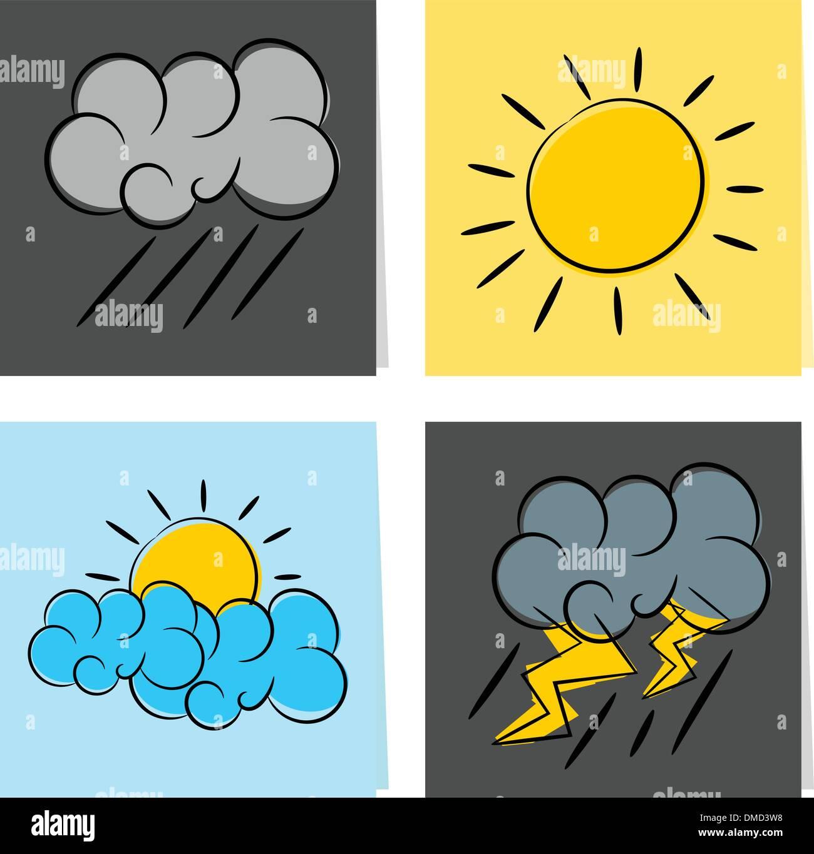 weather icon illustration - Stock Vector