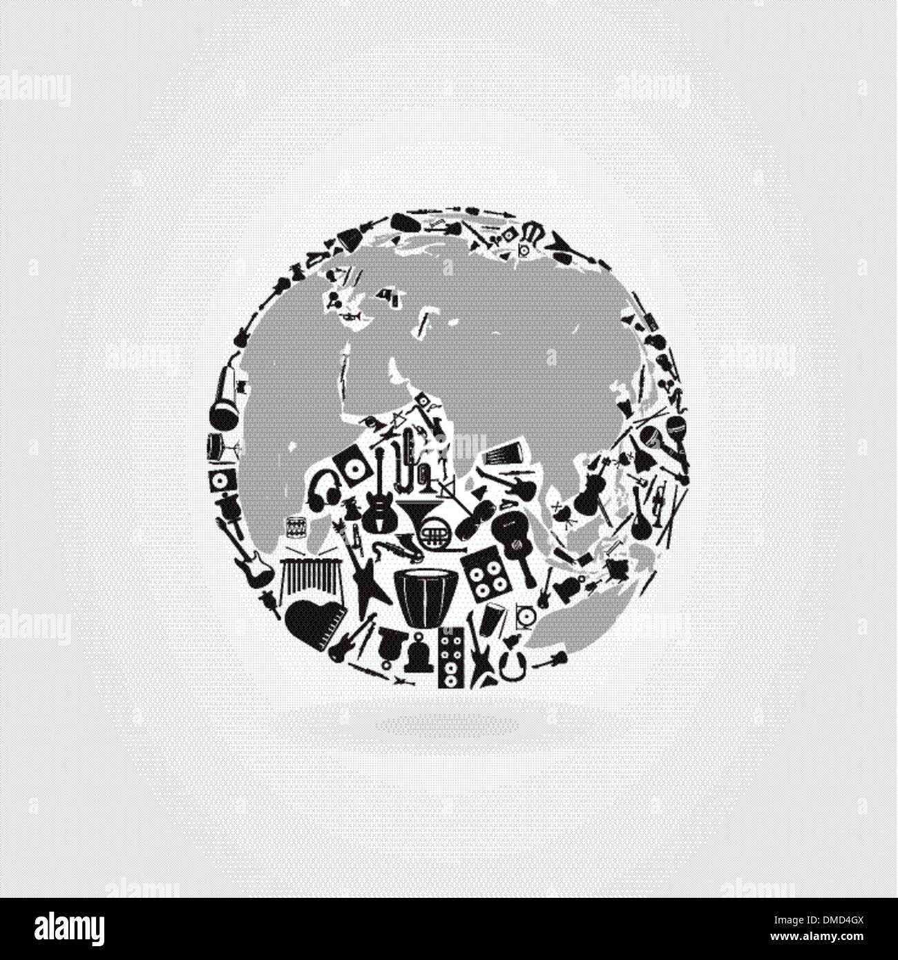 Music a planet - Stock Image