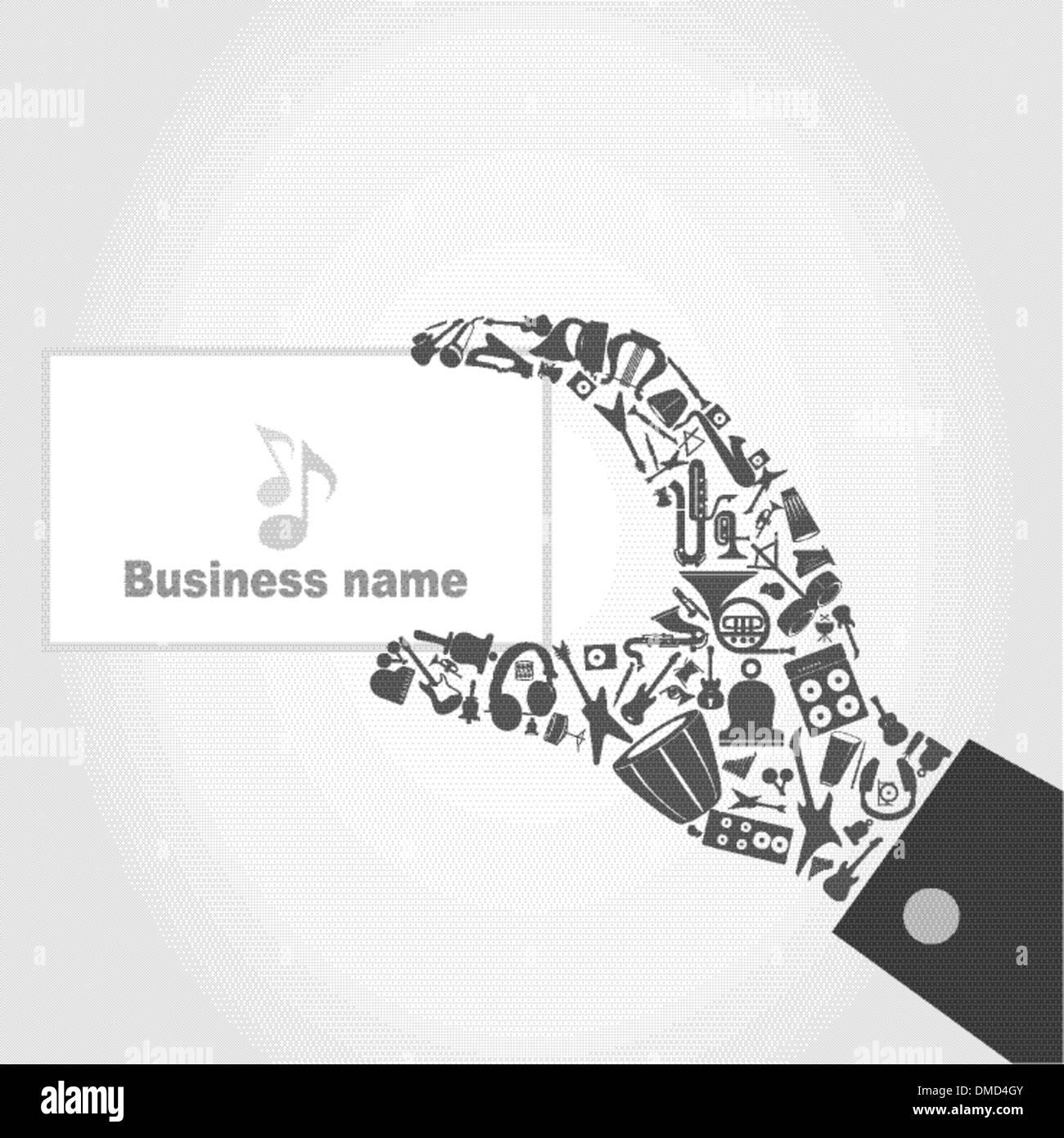 Music hand6 - Stock Image