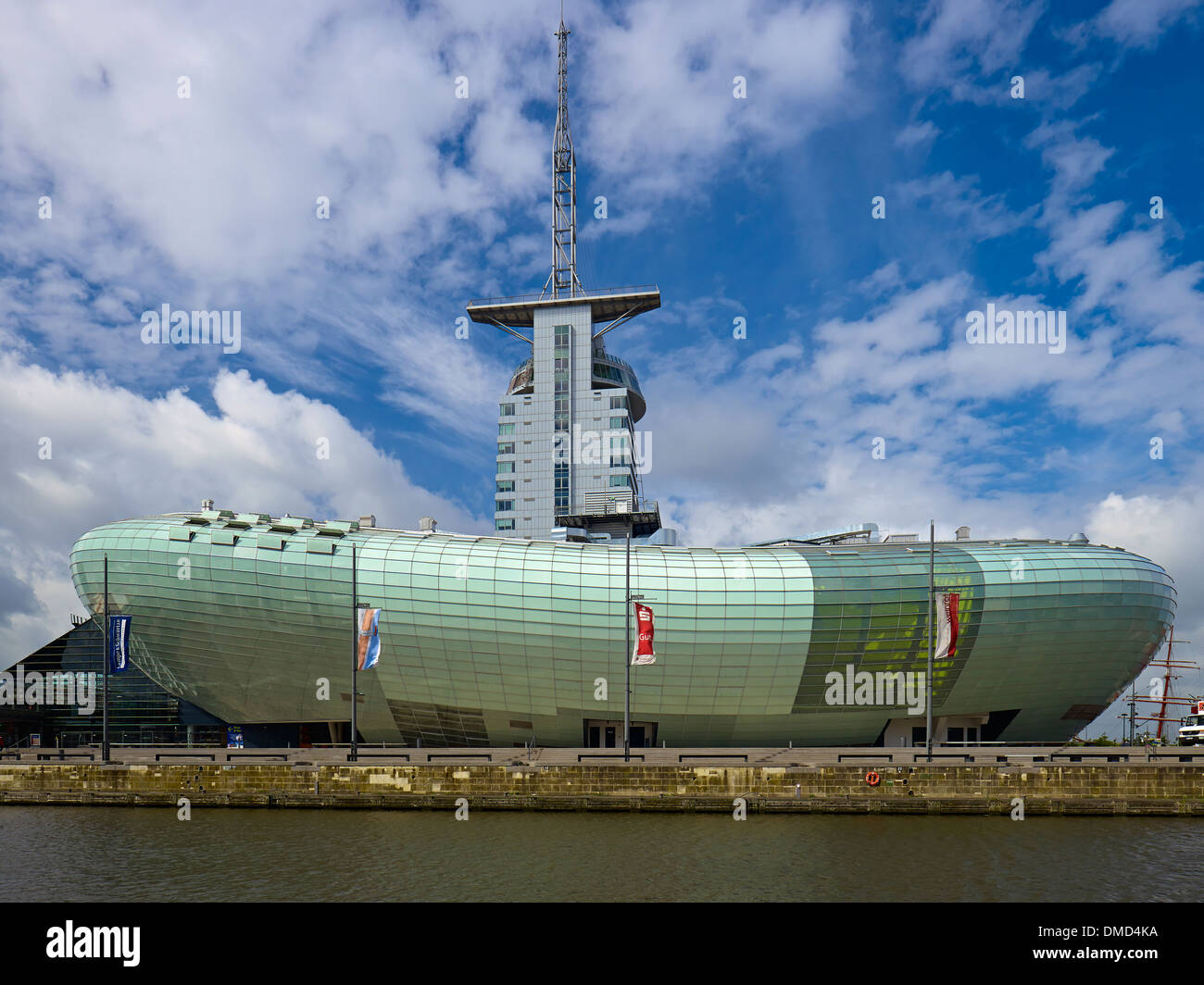 Atlantic Sail City Hotel and Klimahaus in Bremerhaven, Bremen, Germany - Stock Image