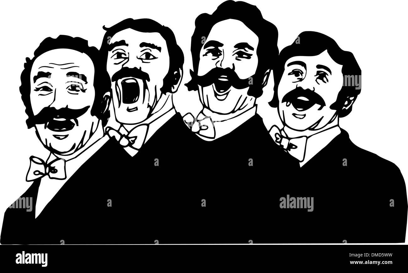 Men singing in choir - Stock Image