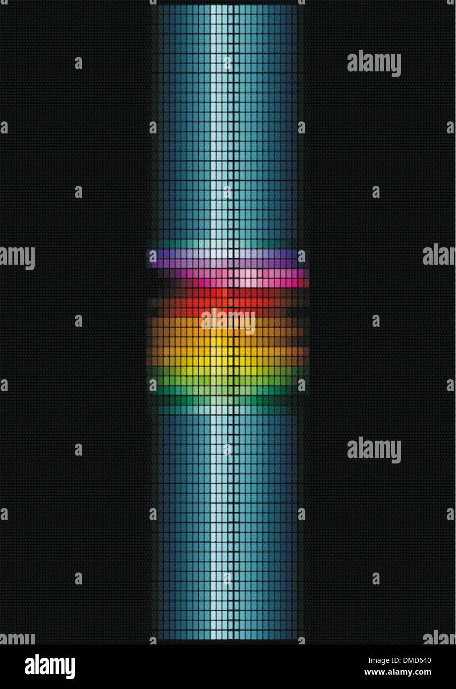dynamic light column - Stock Image
