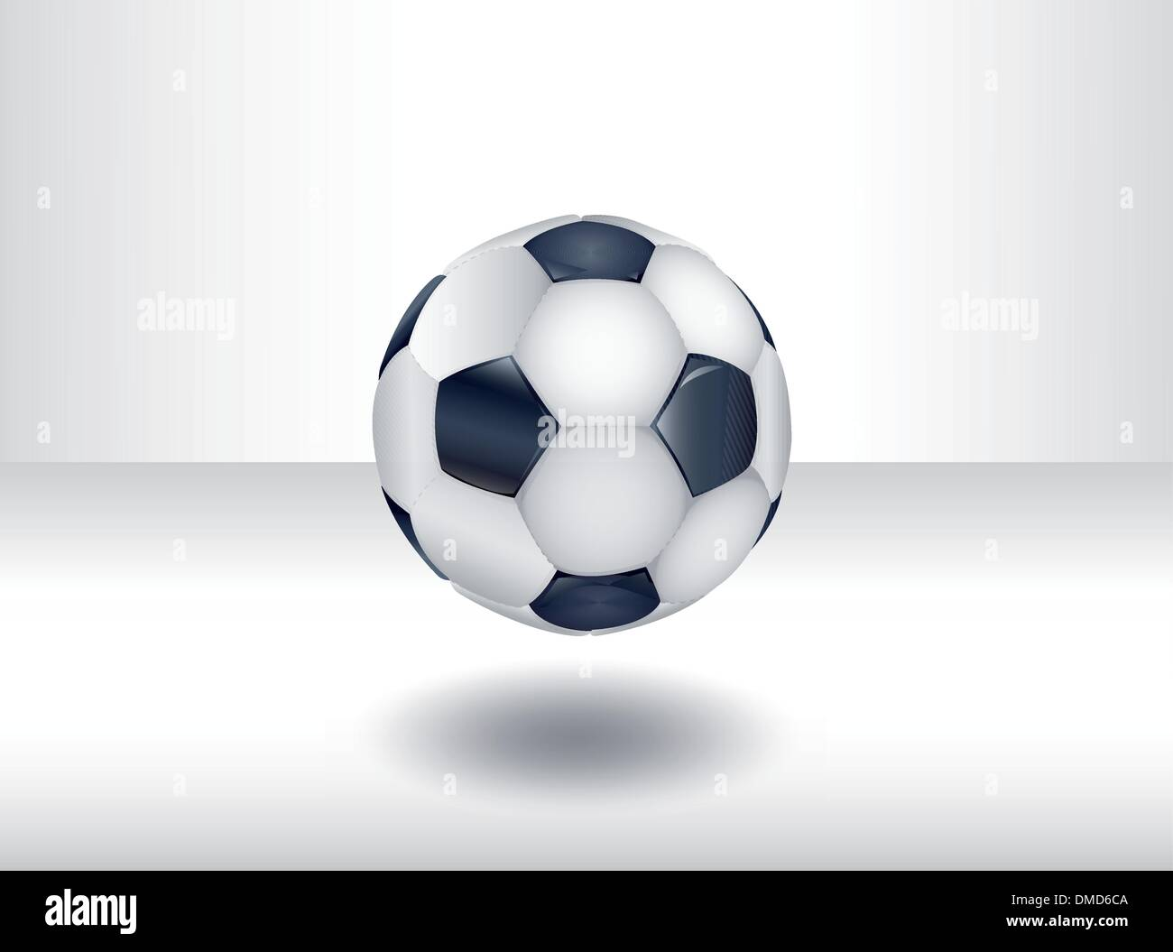 Isolated soccer ball. Ilustration 10 version - Stock Image
