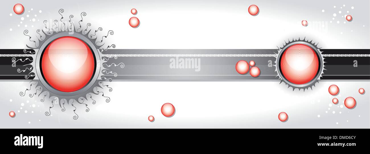 Vector illustration with bubbles. - Stock Image