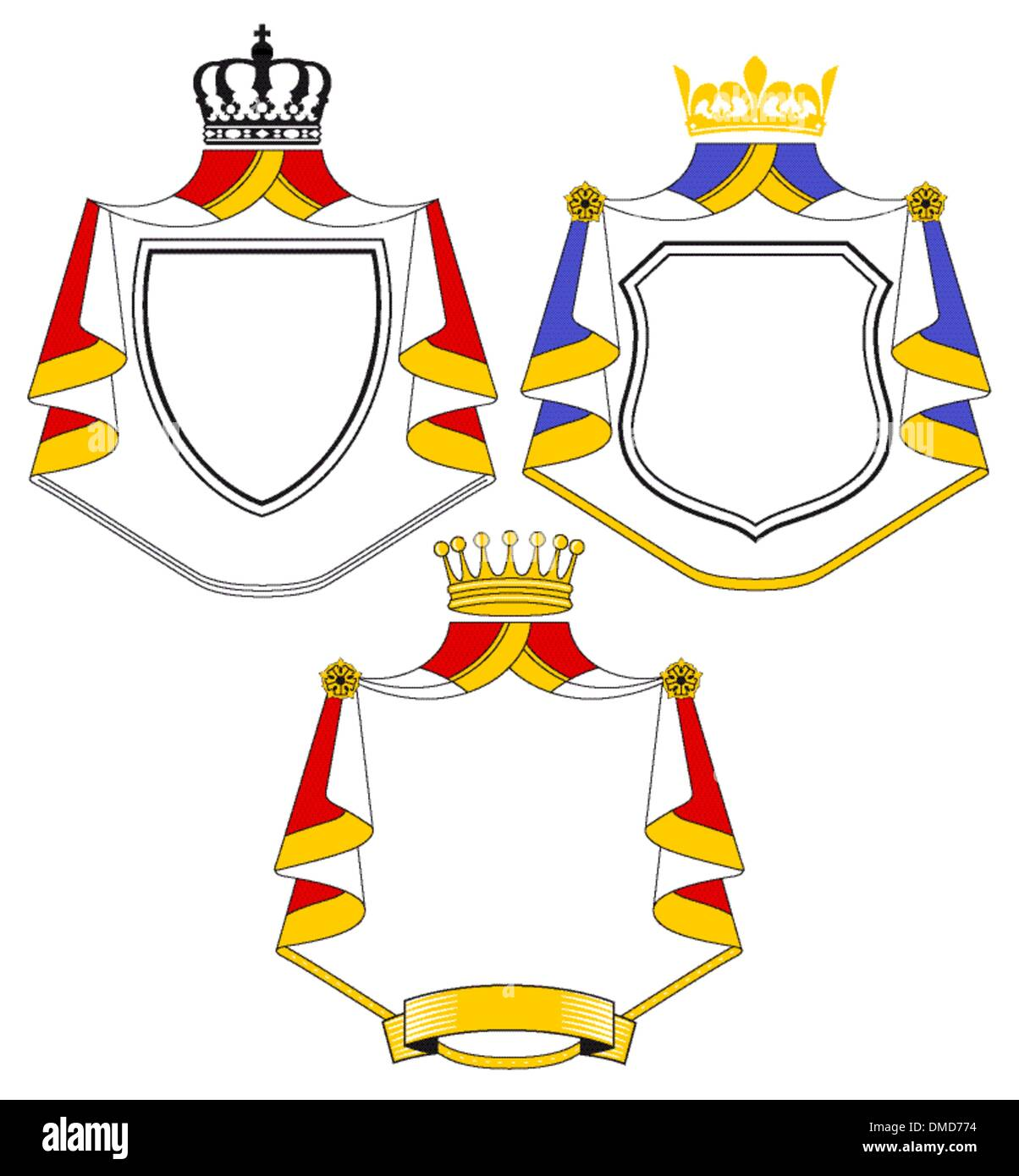 Crest with coat - Stock Image