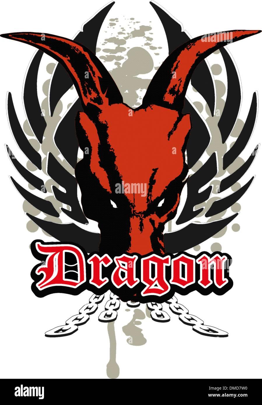 dragon skull - Stock Image