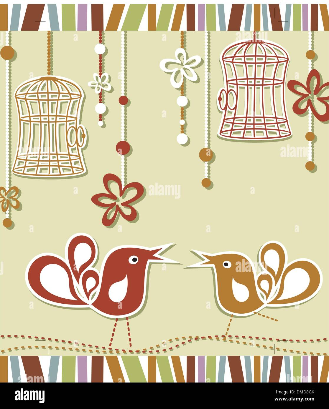Bird Cage Stock Vector Images - Alamy