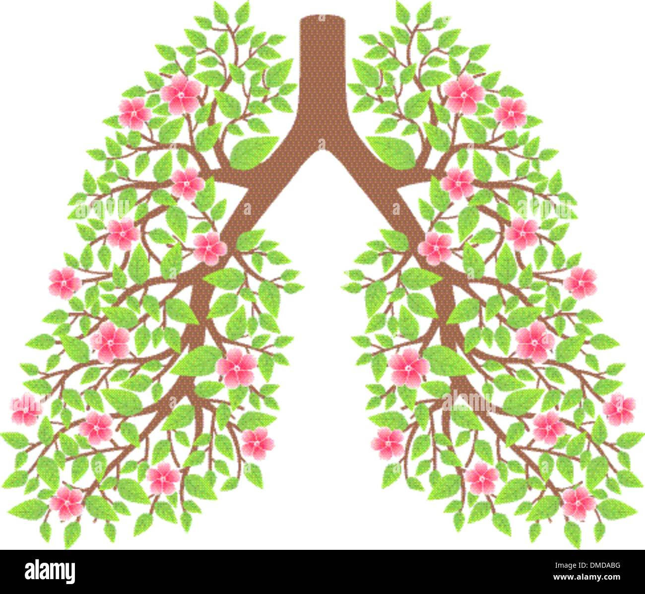 lungs healthy - Stock Vector