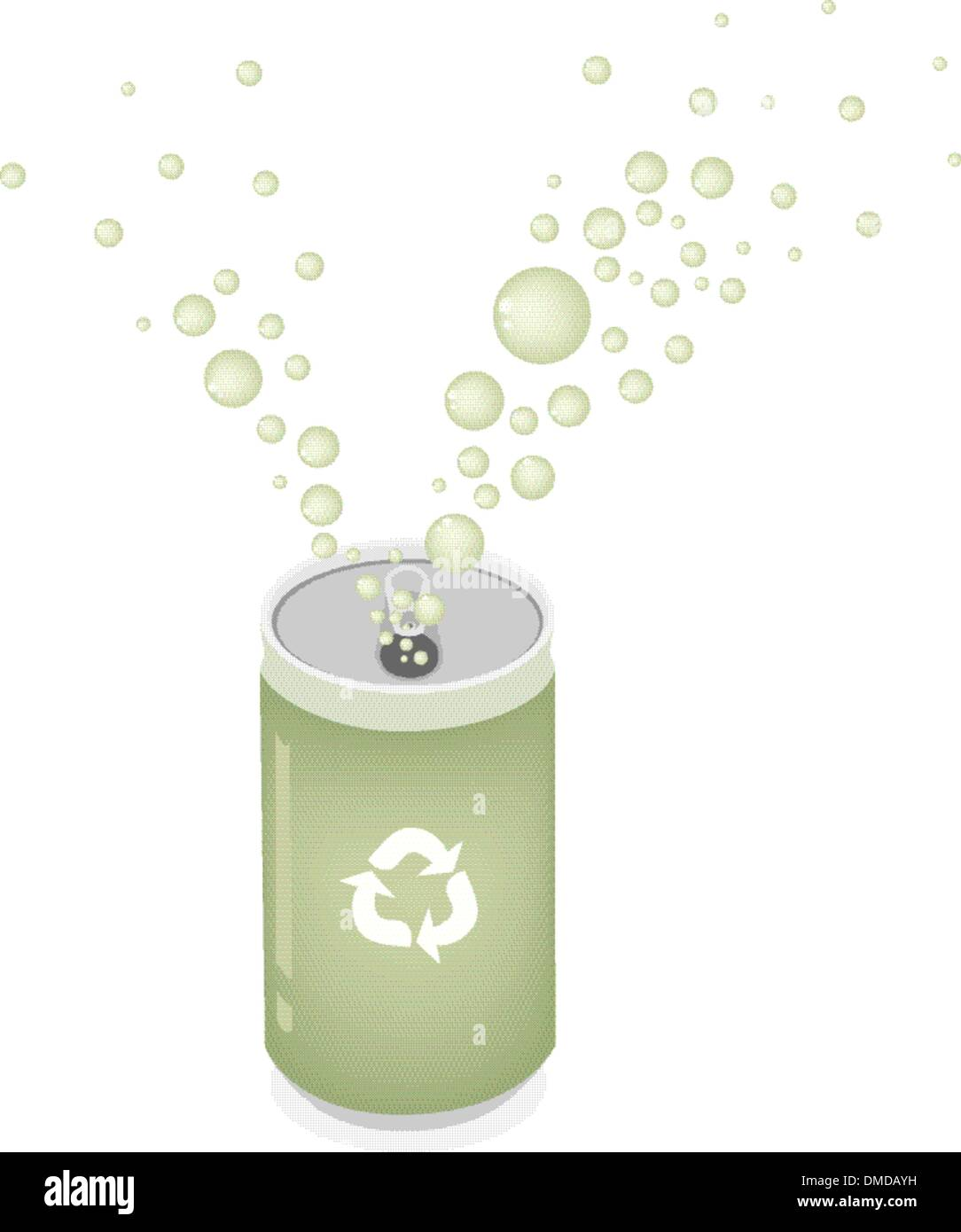 Soda Can with Recycle Symbol for Save The Green World Stock Vector