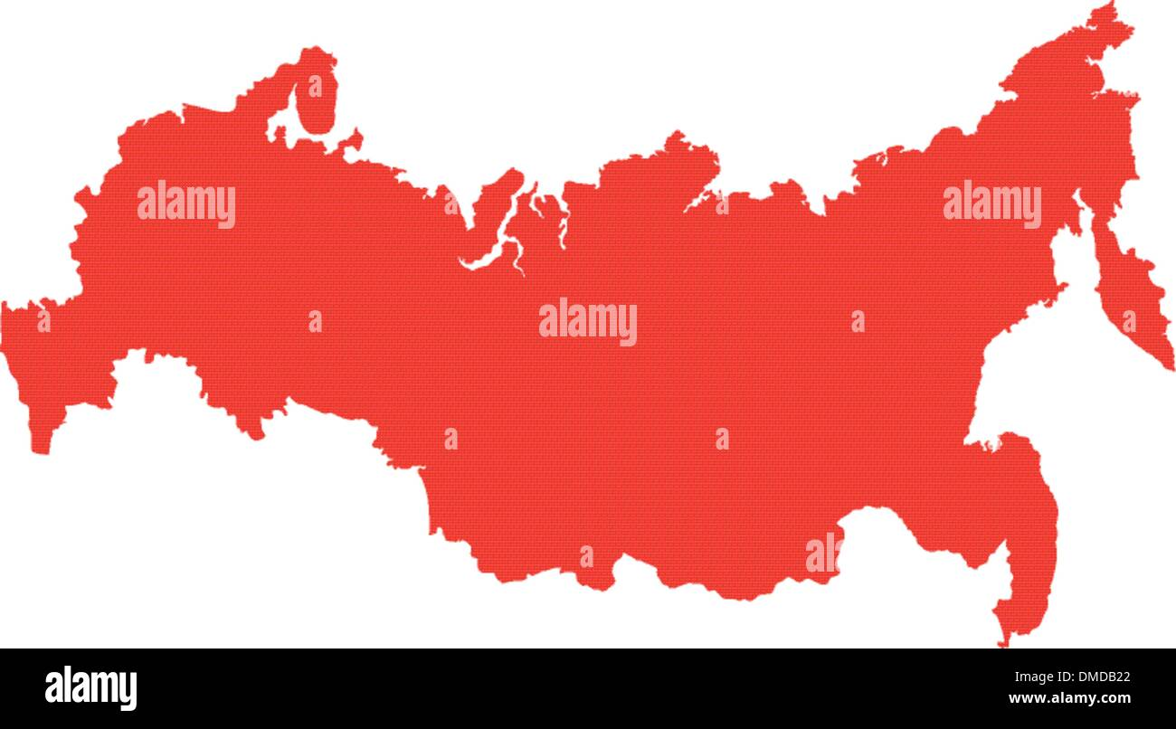 Vector map of Russia - Stock Image