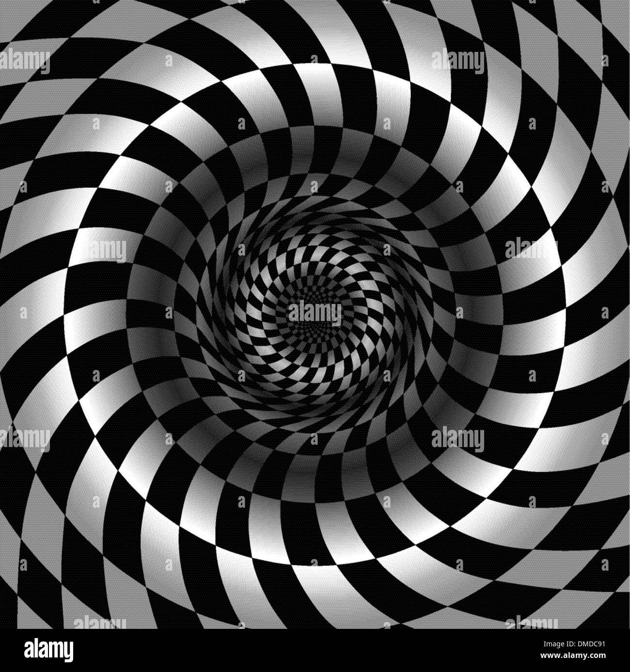 Abstract black and white chess background - Stock Image