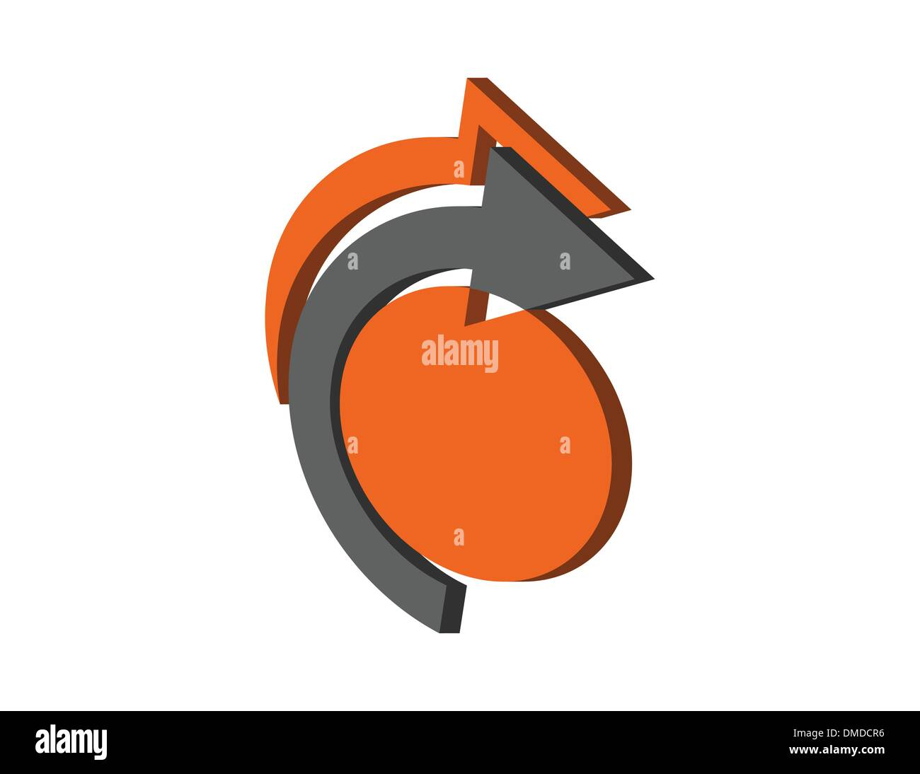 the vector abstract symbol - Stock Image
