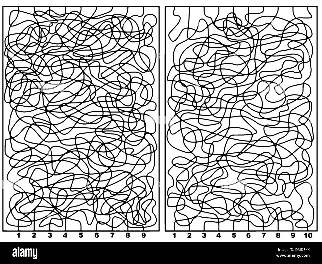 Two labyrinths - Stock Image
