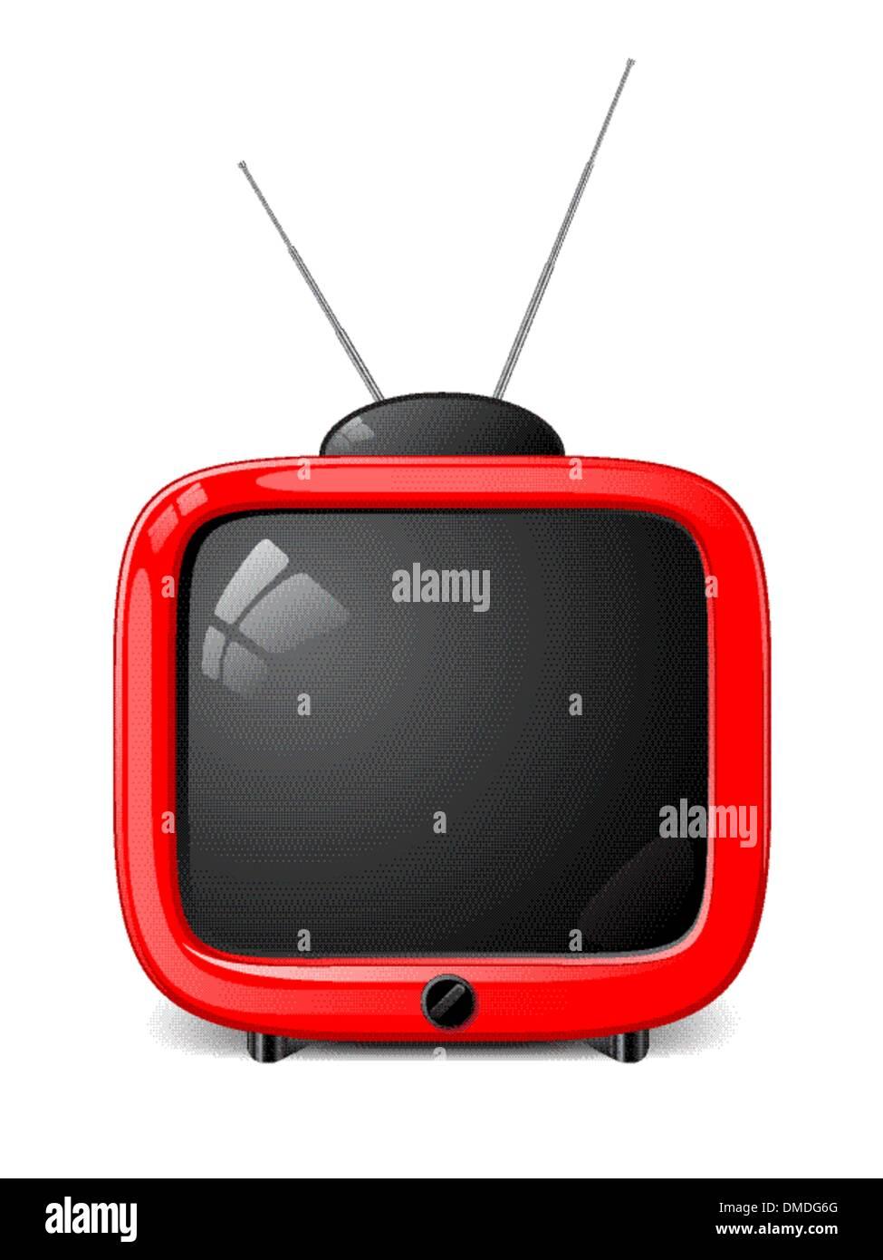 Stylish vector TV - Stock Image