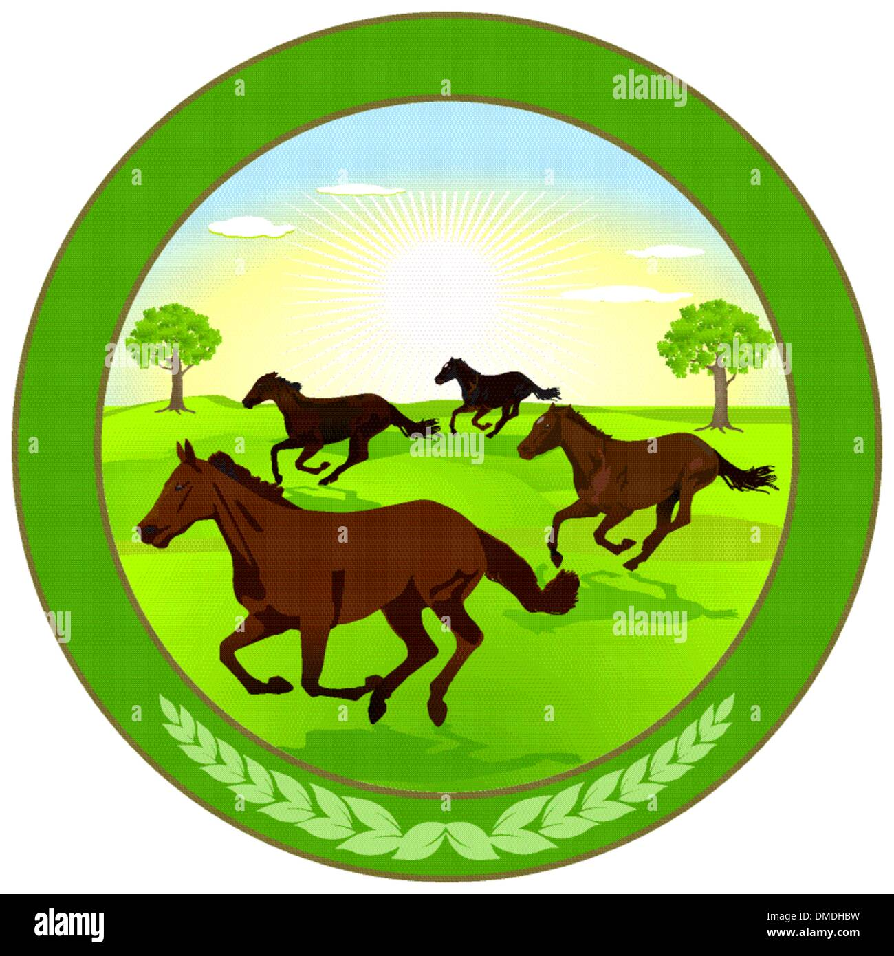 Horse breeding Label - Stock Vector