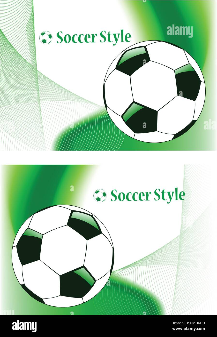 the vector abstract sport soccer background - Stock Image