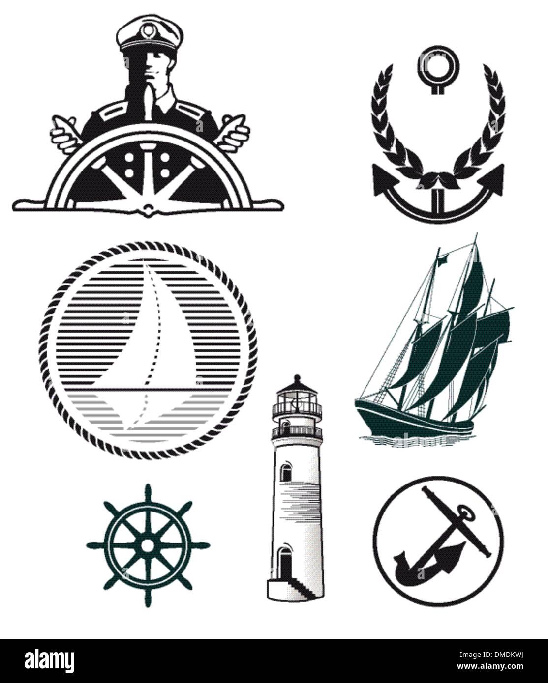 maritime mark - Stock Image