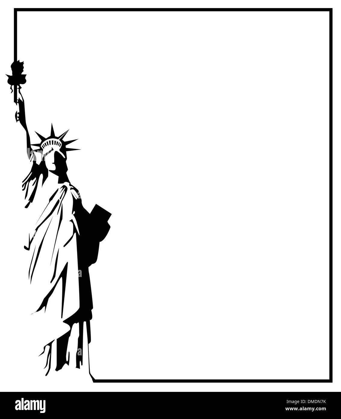 the vector Statue of Liberty eps 8 Stock Vector