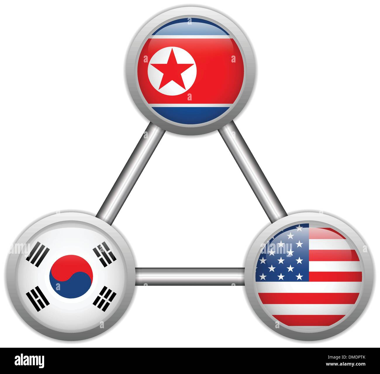 north korea usa and south korea war stock vector art illustration north korea usa and south
