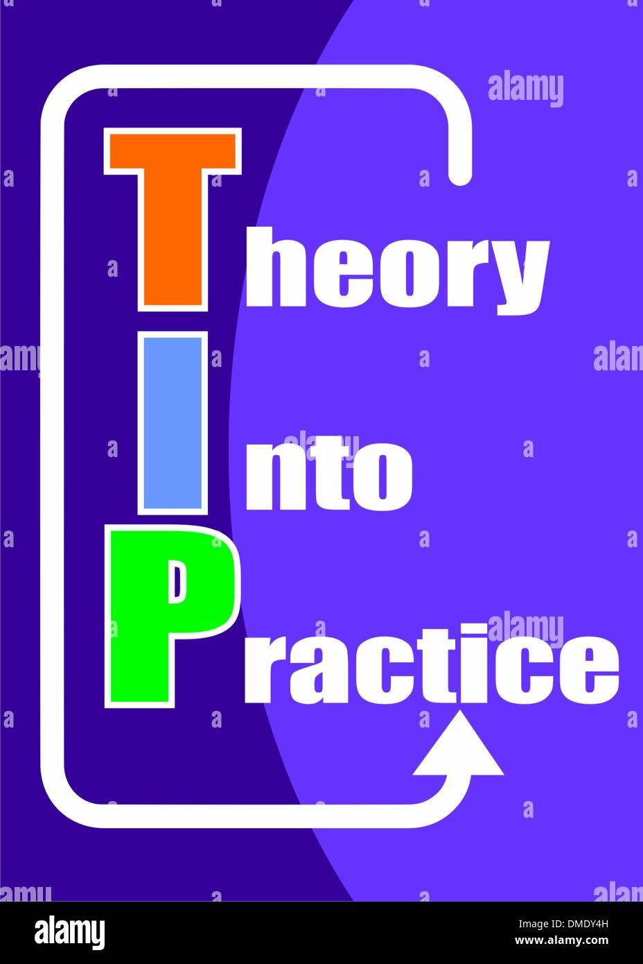 Theory into practice - TIP acronym - Stock Image