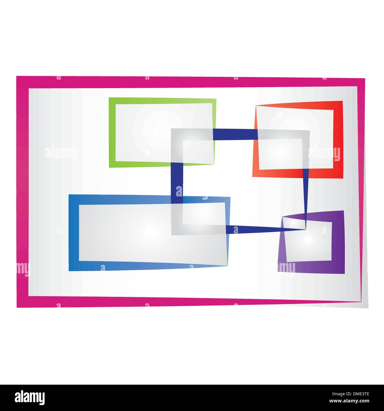 abstract colored frames Stock Vector Art & Illustration, Vector ...
