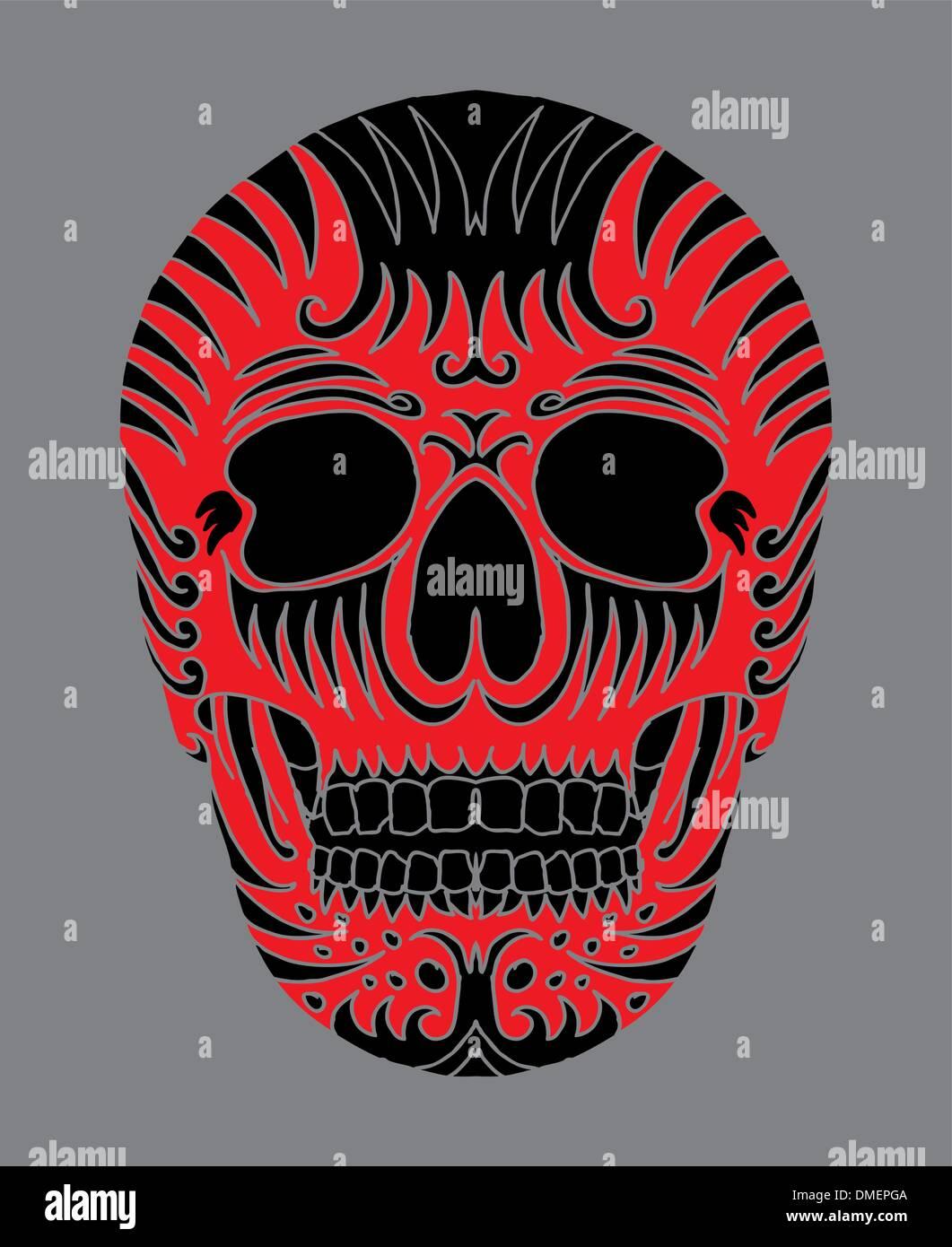 tattoo tribal mexican skull vector art tattoo tribal mexican skull ...