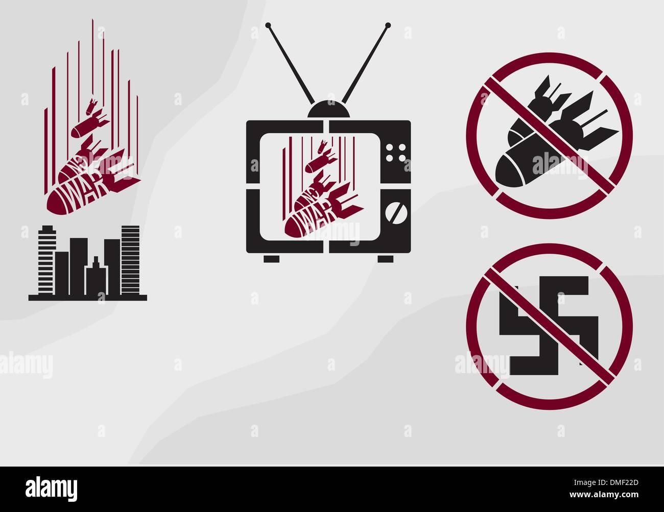 Vector stencil in propaganda style - Stock Vector