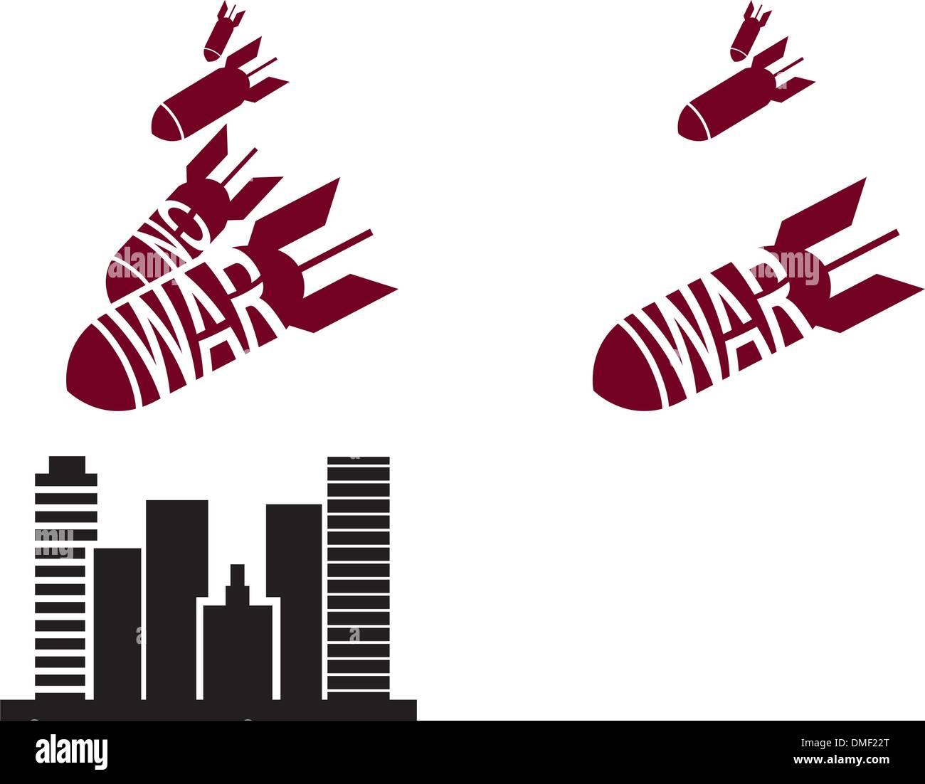 Vector red and black stencil in propaganda style Stock Vector