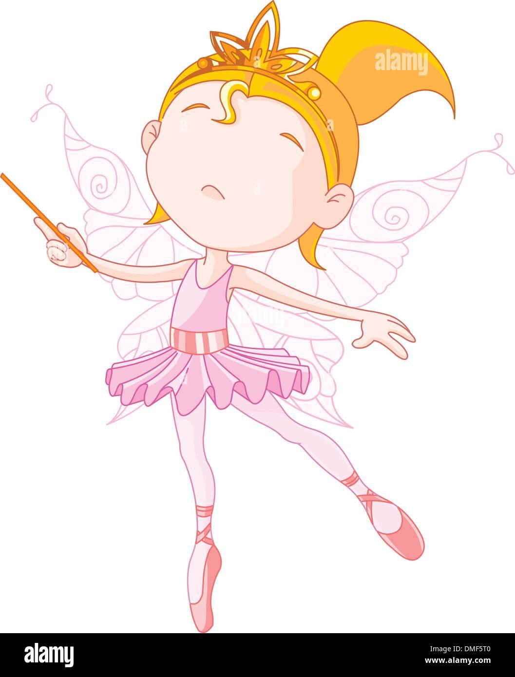 Cute fairy - Stock Image