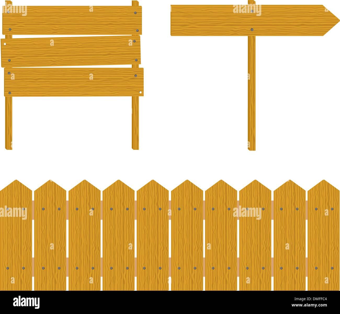 wooden boards - Stock Vector