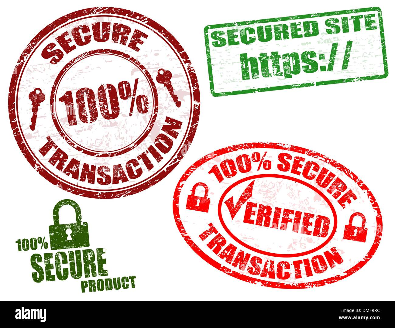Secure stamps - Stock Vector