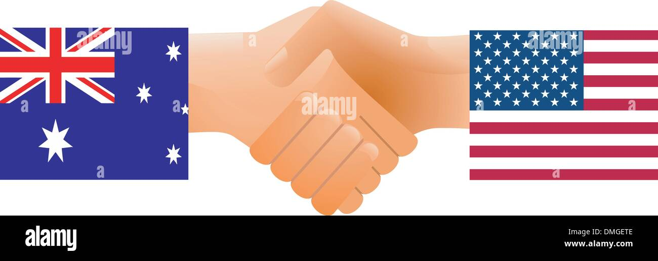 Sign of friendship the U.S. and Australia - Stock Vector