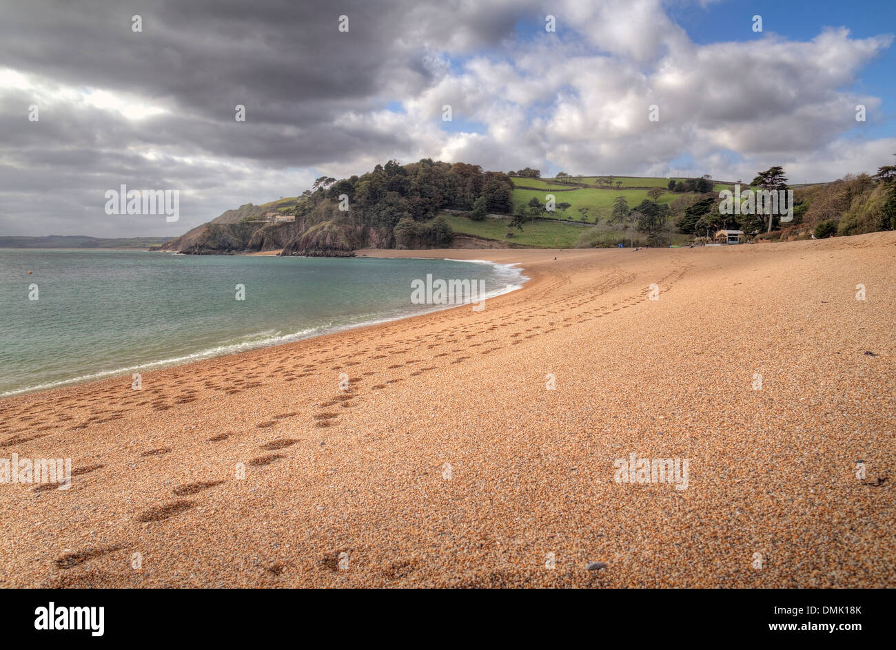 Blackpool Sands near Dartmouth, Devon, England. - Stock Image