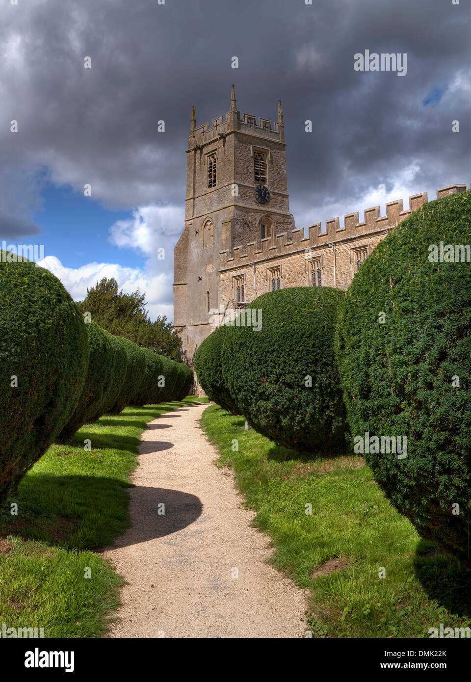 The Church of St Peter & St Paul, Long Compton, Warwickshire, England. - Stock Image