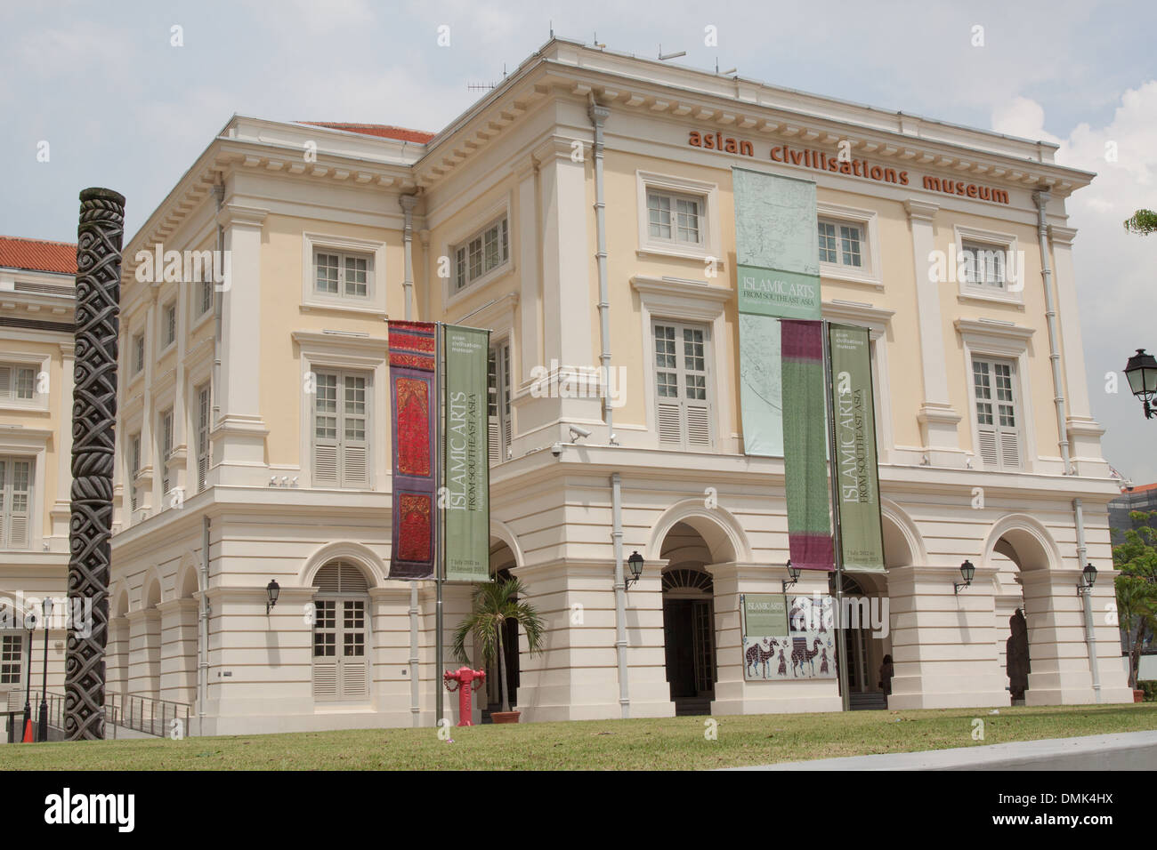 FACADE OF THE ASIAN CIVILISATIONS MUSEUM, HERITAGE DISTRICT, SINGAPORE - Stock Image