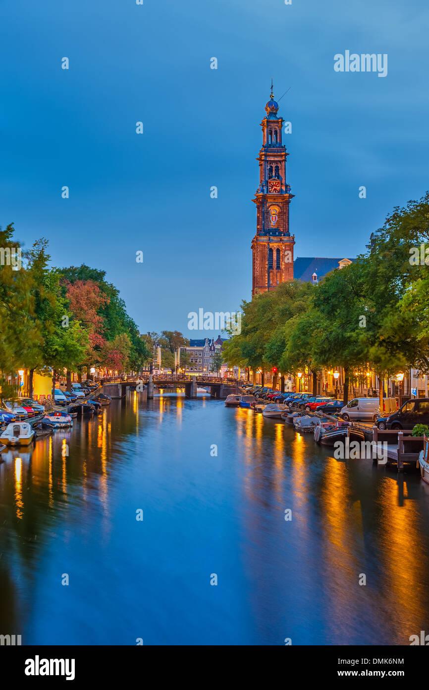 Western church in Amsterdam Stock Photo