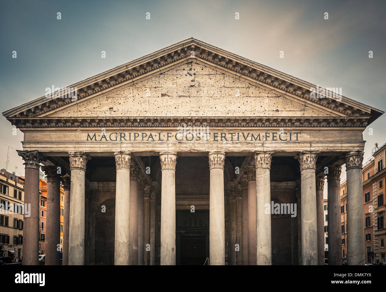 Pantheon in Rome, Italy - Stock Image