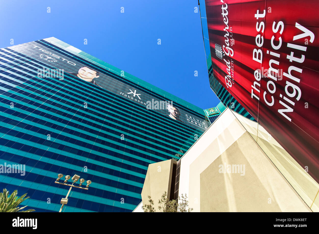 Side of MGM Grand hotel and casino in Las Vegas, Nevada - Stock Image