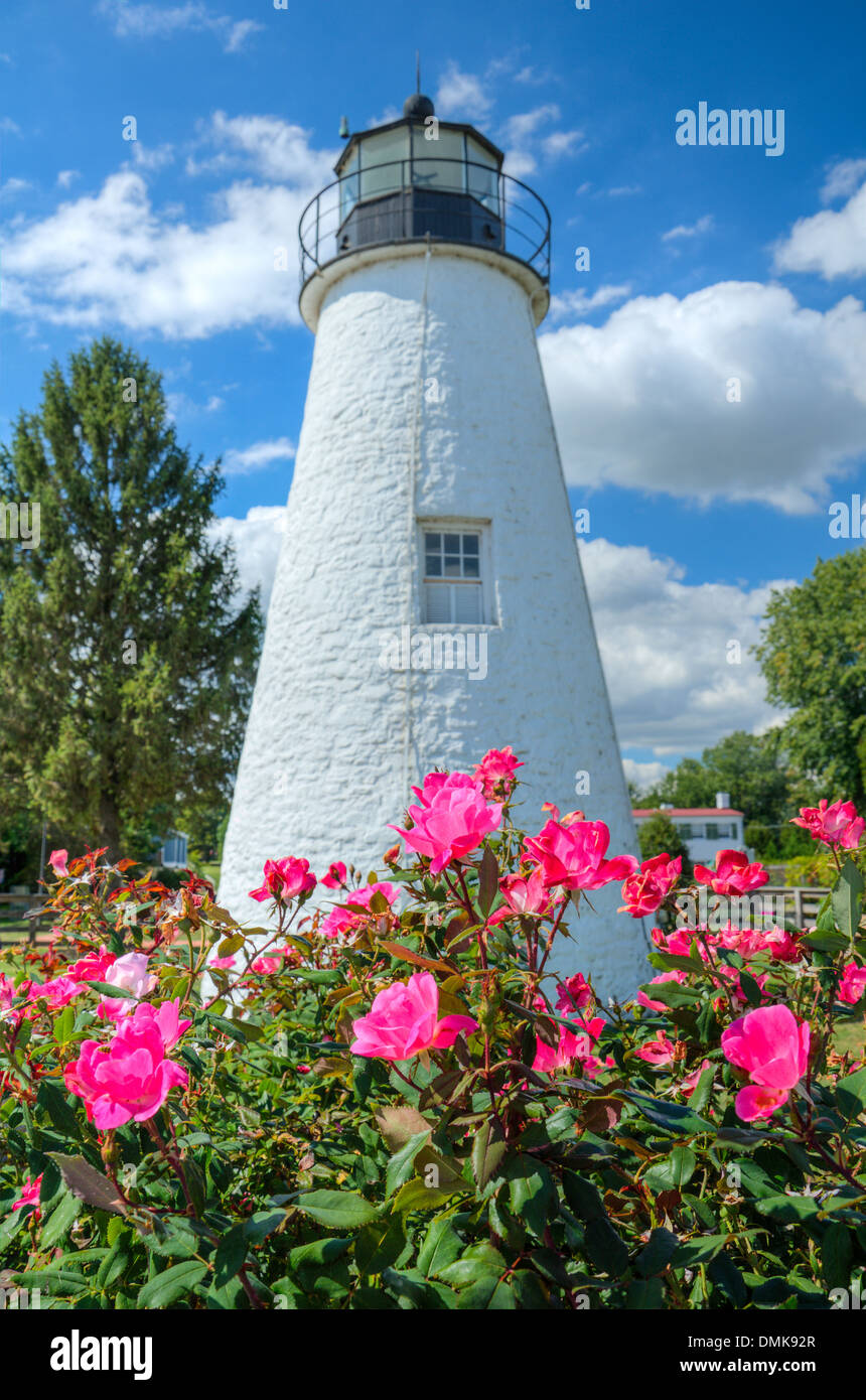 Concord Point Lighthouse at Havre de Grace in Maryland - Stock Image