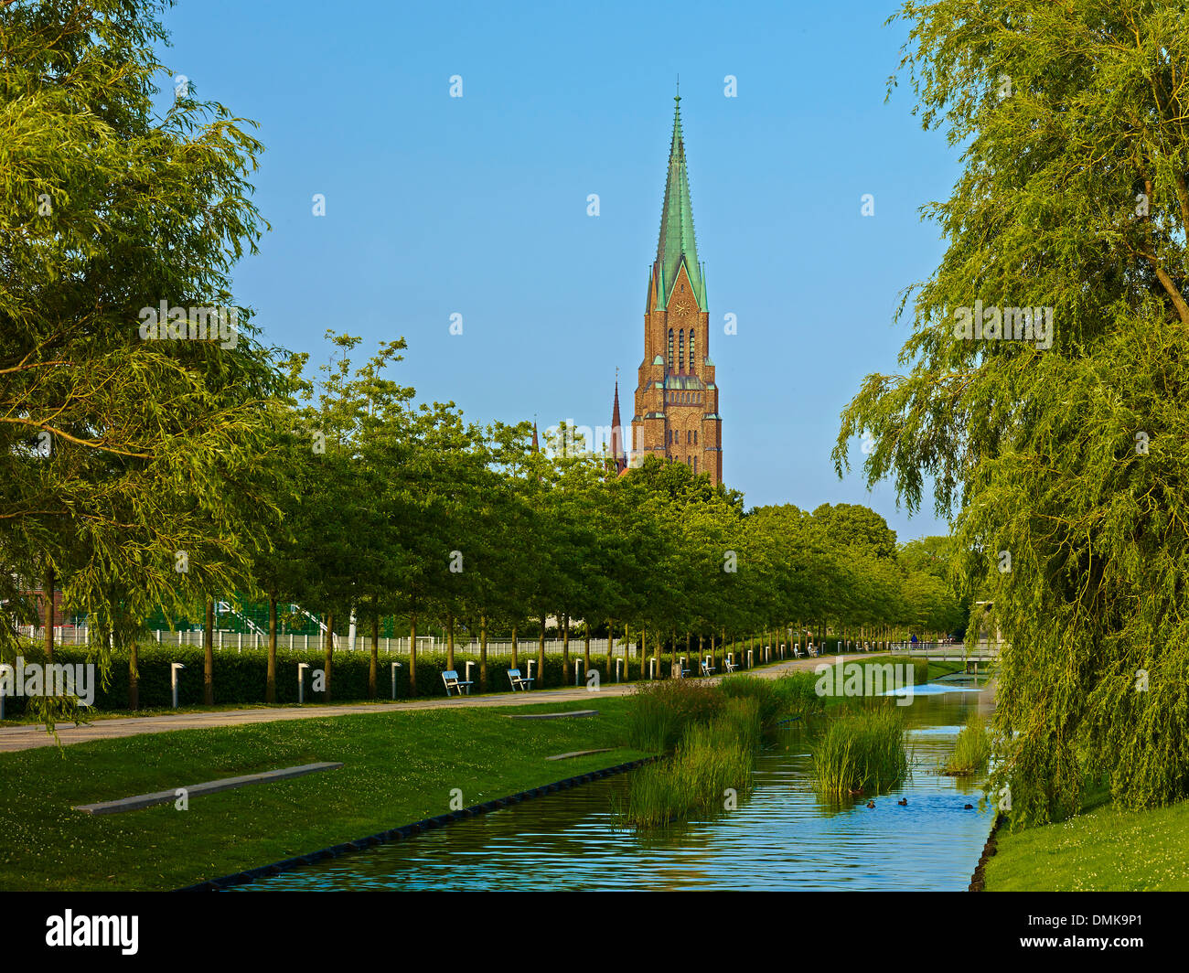 St. Peter Cathedral in Schleswig, Schleswig-Flensburg District , Schleswig-Holstein, Germany - Stock Image