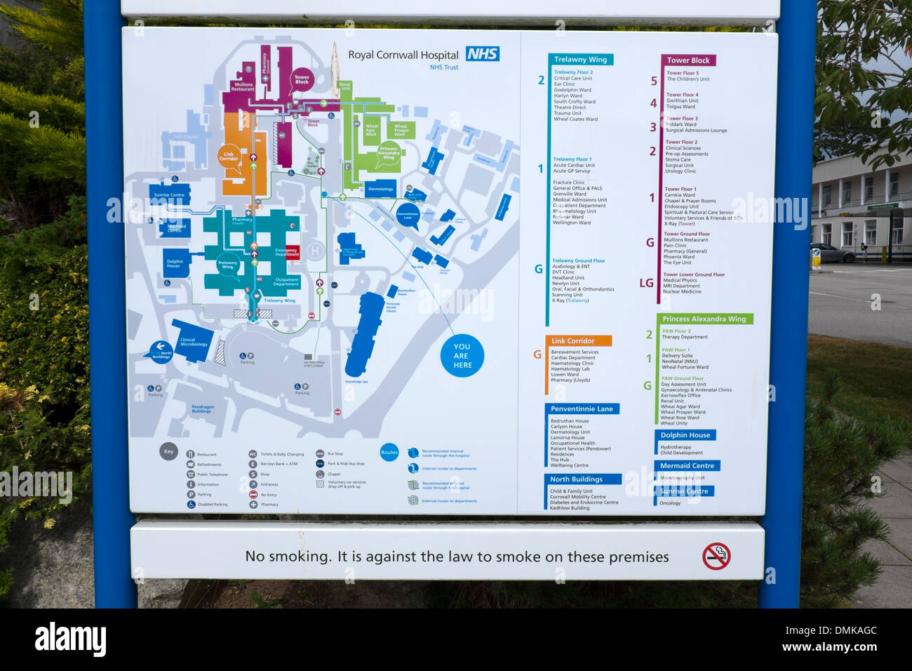 Treliske Hospital Map Royal Cornwall Hospital NHS Site Map Stock Photo: 64349612   Alamy Treliske Hospital Map