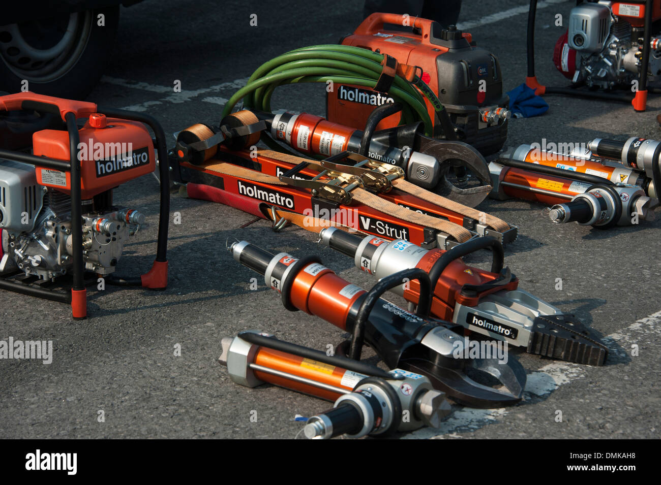 Holmatro Fire & Rescue Cutting Equipment Jaws of Life Stock Photo