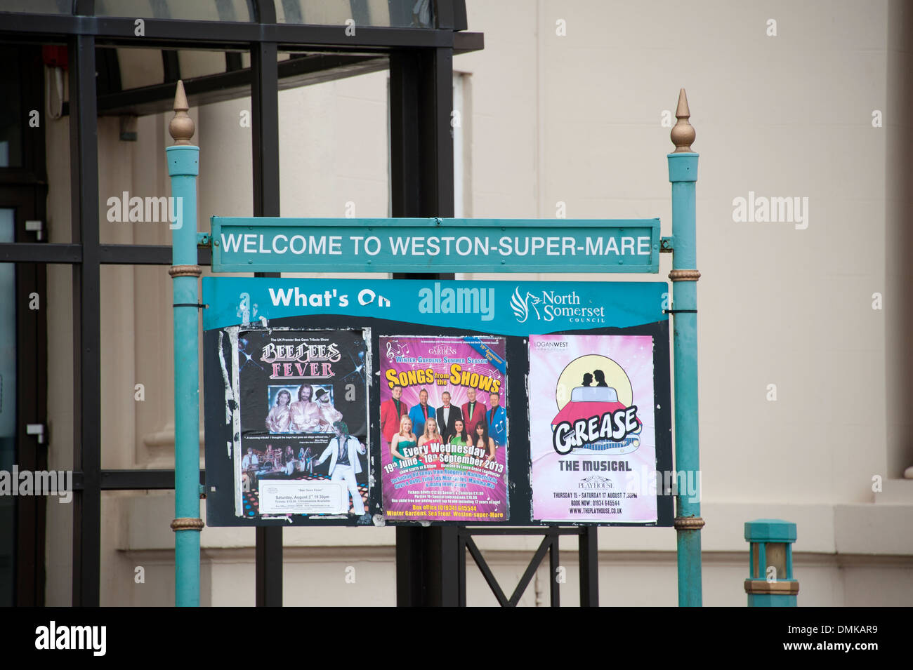 Welcome to Sign Weston-Super-Mare UK - Stock Image
