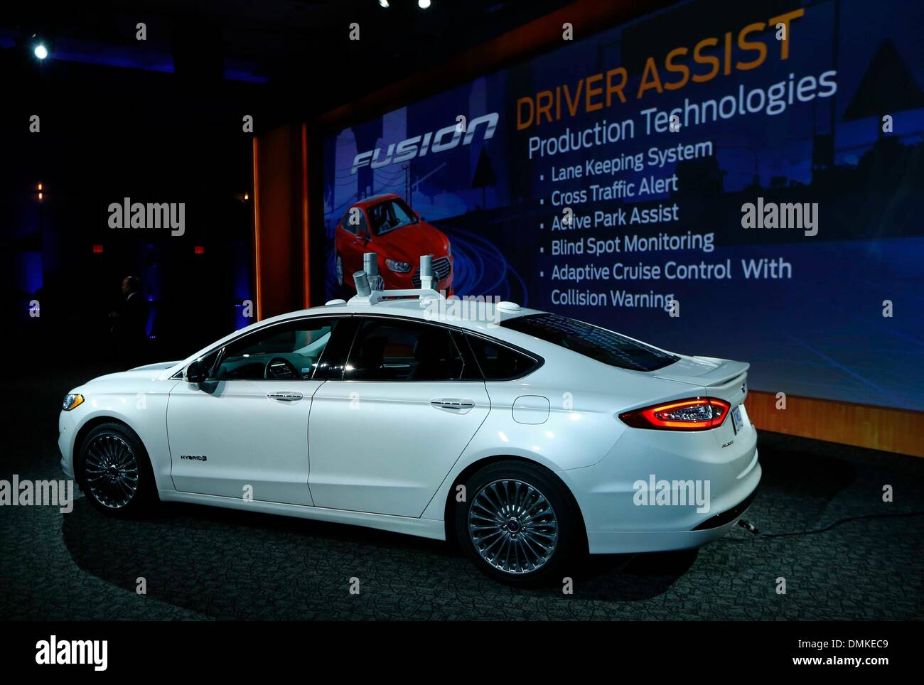 Dearborn michigan usa 12th dec 2013 ford motor company unveils ford motor company unveils automated ford fusion hybrid research vehicle to test and advance its blueprint for mobility which envisions a future of malvernweather Gallery