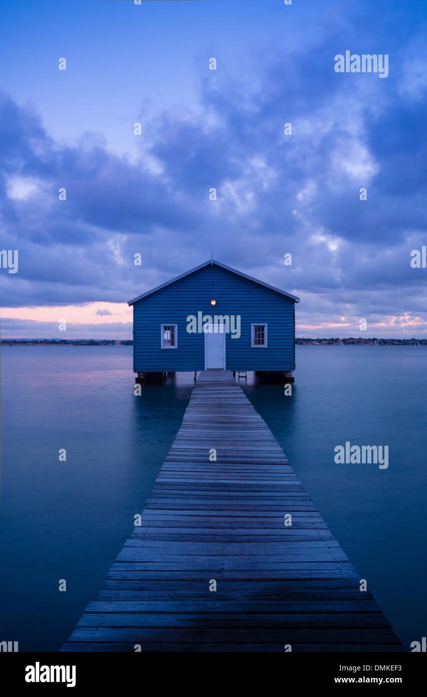 Matilda Bay boatshed - Stock Image