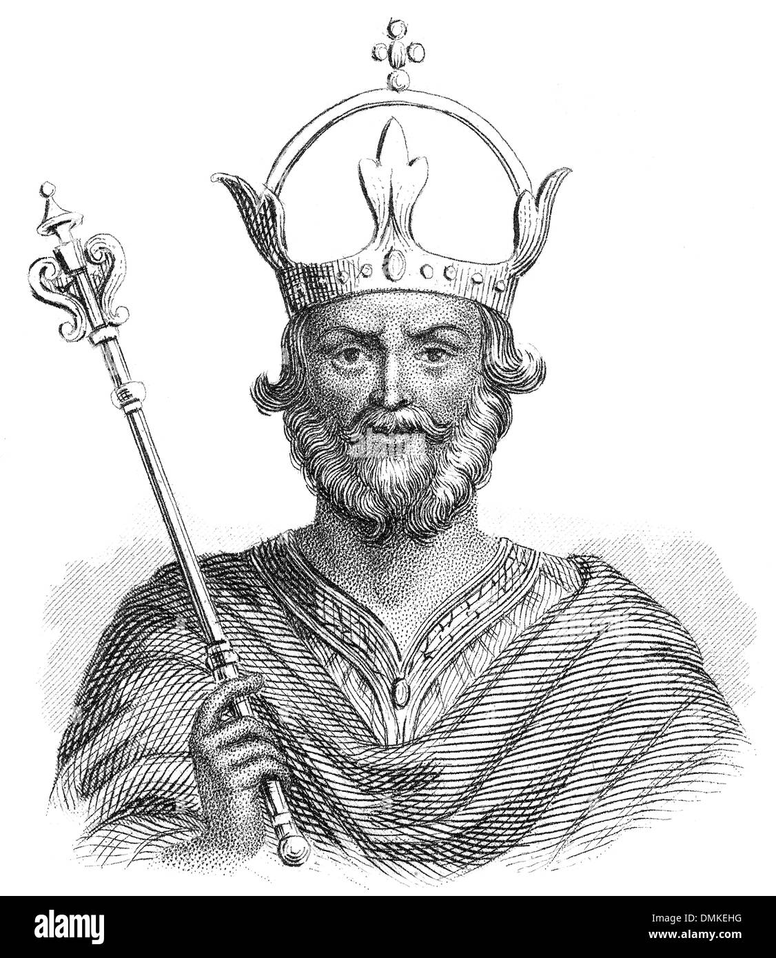Henry IV, 1050 - 1106, King of the Germans - Stock Image