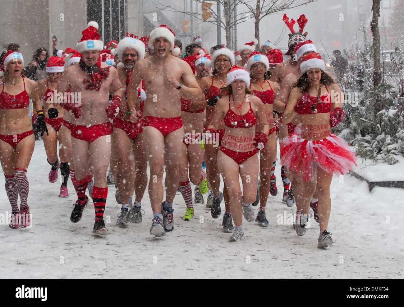 a03b1e8c40e57 14th Dec, 2013. Participants in bathing suits run during the 2013 Toronto  Santa Speedo Run in Toronto, Canada, Dec. 14, 2013.