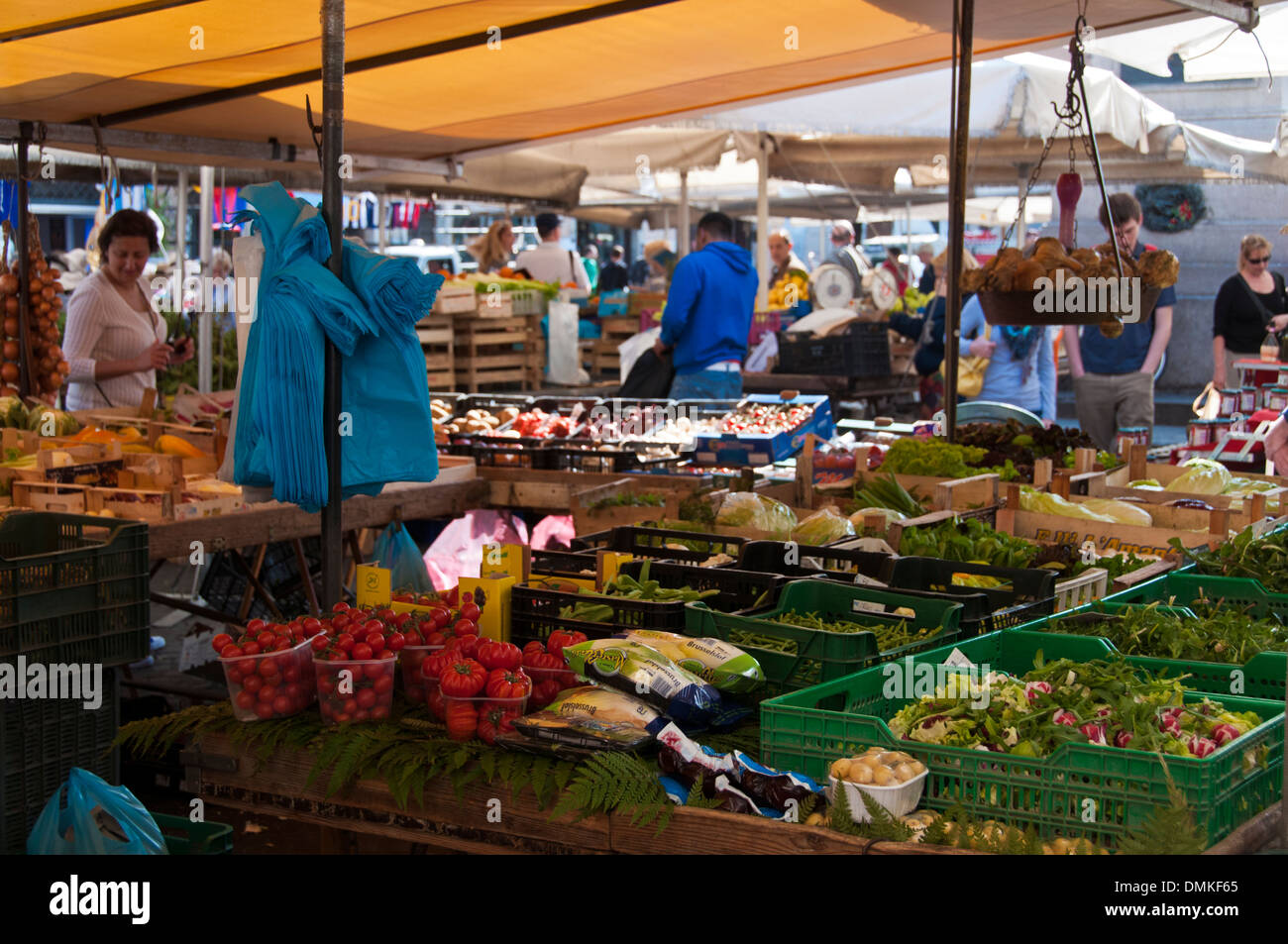 64c7fb44a4445 Vegetables for sale in the famous Campo de Fiori market in Rome - Stock  Image