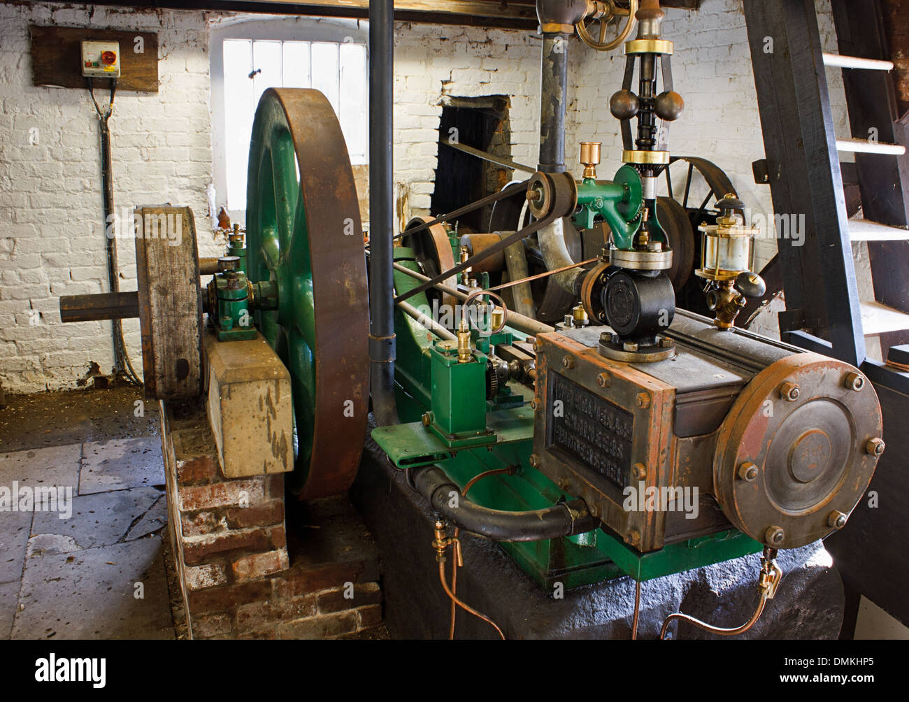 Josephine miniature steam Engine once restored by Fred Dibnah, located at Wetheriggs pottery, near Penrith, Cumbria - Stock Image