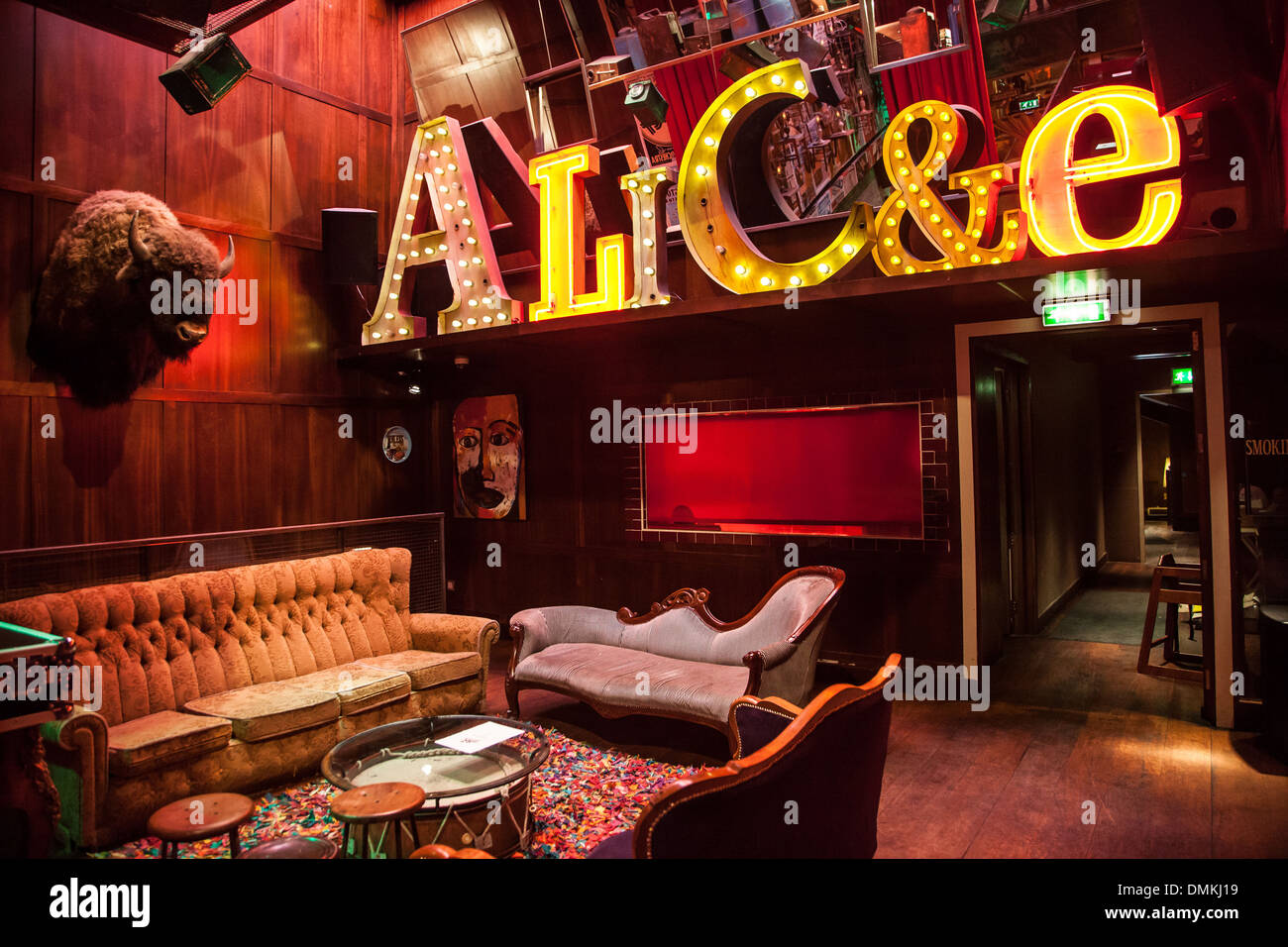 INTERIOR OF THE RESTAURANT THE 37 DAWSON STREET BY THE LOUNGE AREA, DUBLIN, IRELAND - Stock Image